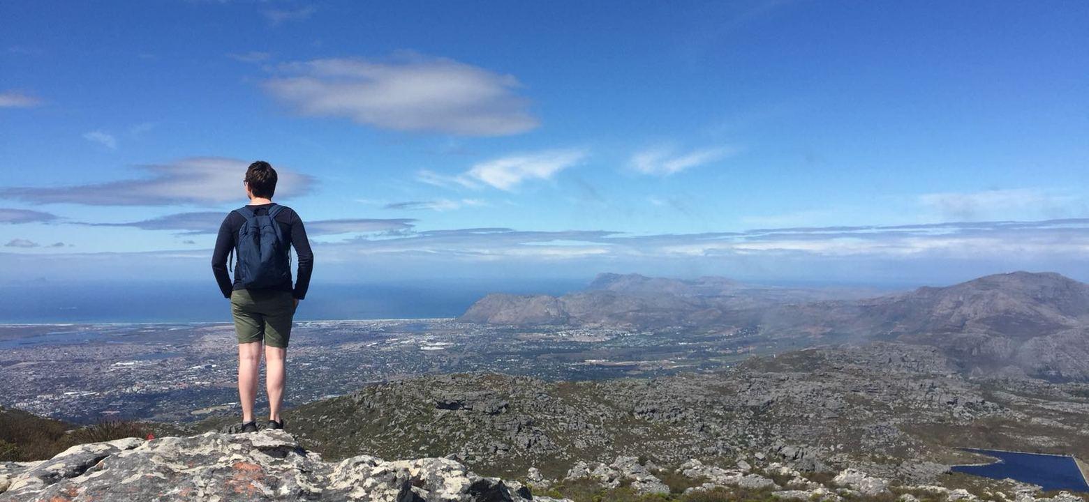 Op de top van de Tafelberg, Kaapstad