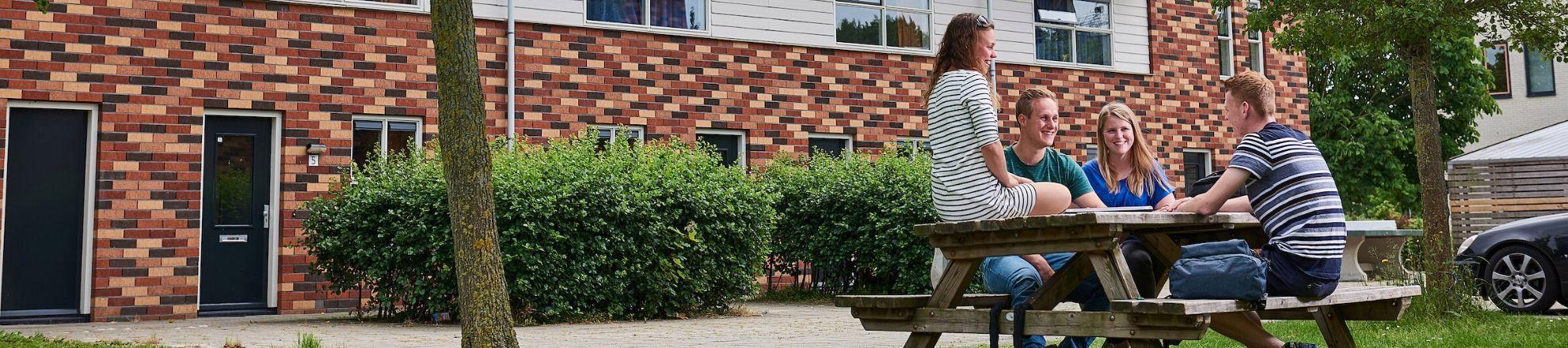 Studenten campus studentenhuisvesting Aeres Hogeschool Dronten